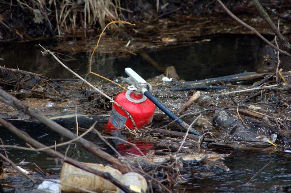Trash in Buck Creek