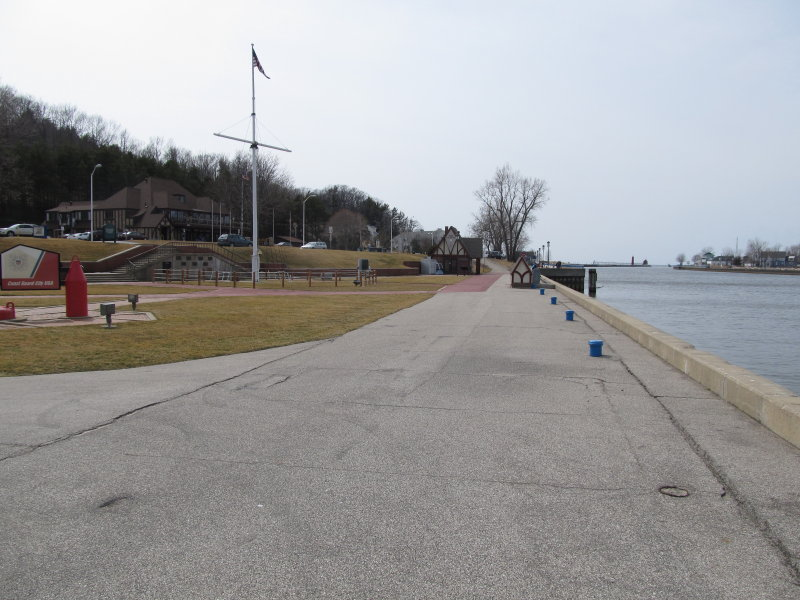 The south breakwater in Grand Haven