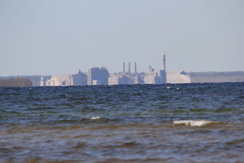 The cement plant across Thunder Bay