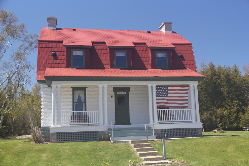 Lightkeeper's quarters at The new Presque Isle Lighthouse