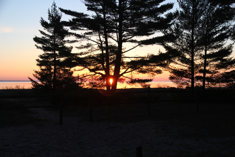 Sunrise in Ossineke, Michigan