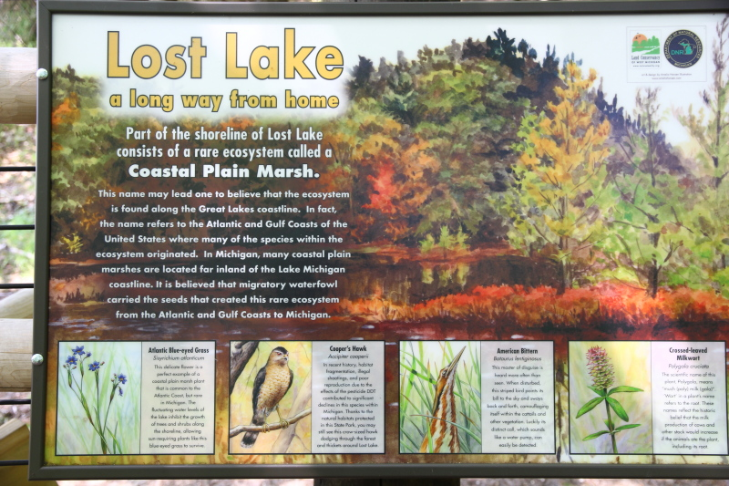 Interpretive sign at Lost Lake