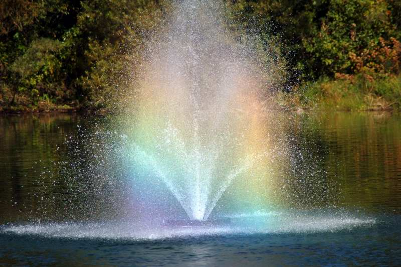 Rainbows in the fountain