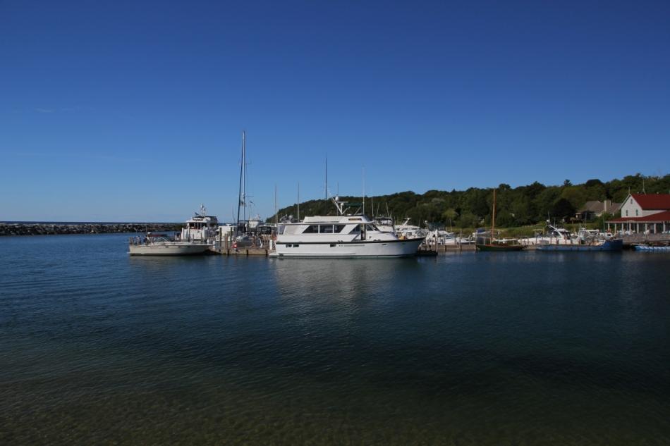 The small harbor at Leland