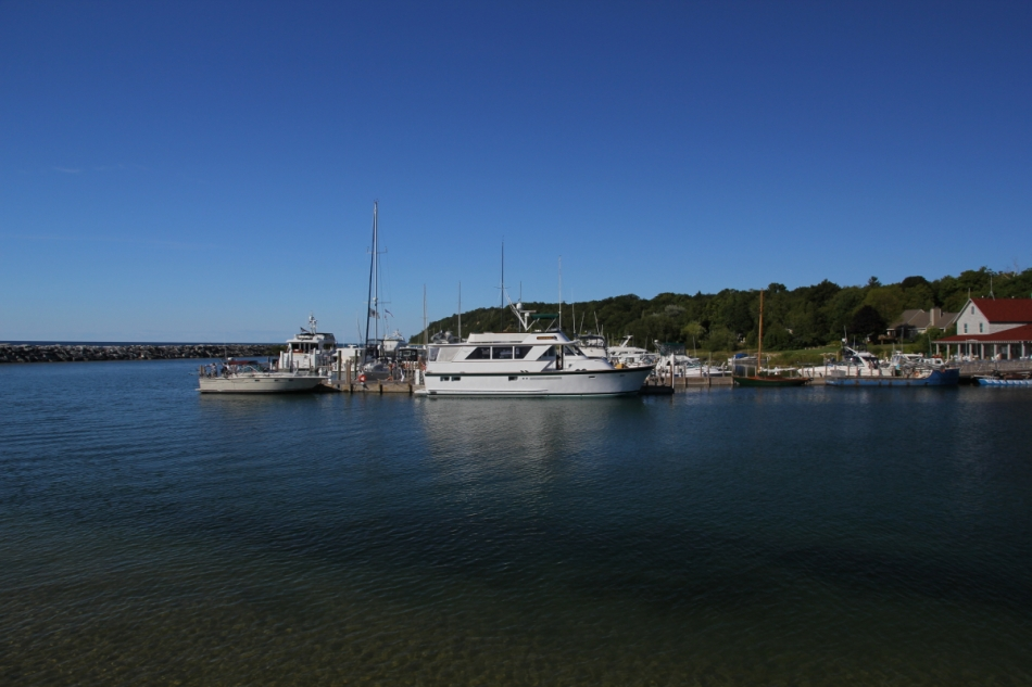 The small harbor at Leland