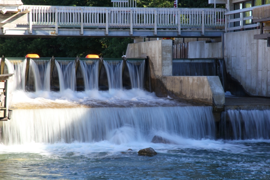 The dam on the Leelanau River