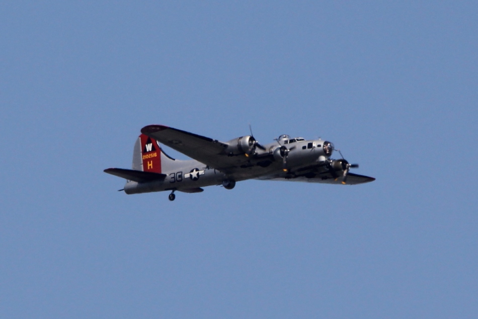 "The World War II era B-17 bomber ""Aluminum Overcast"""