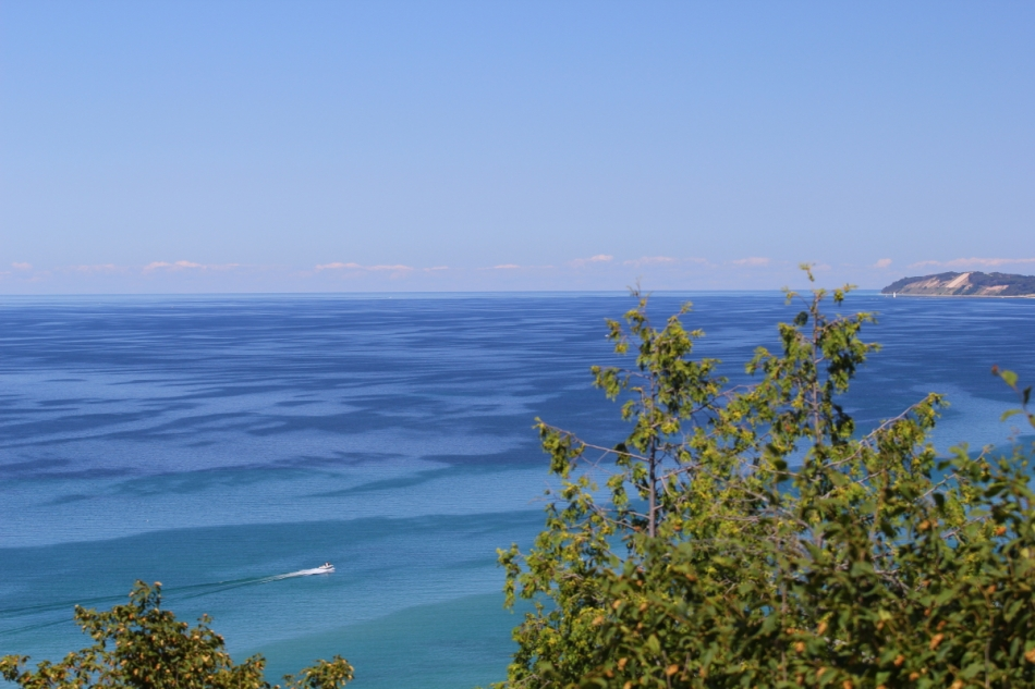 Looking north towards the Empire Bluffs