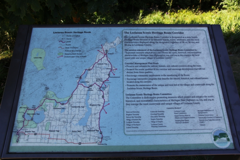 Leelanau Peninsula map and info