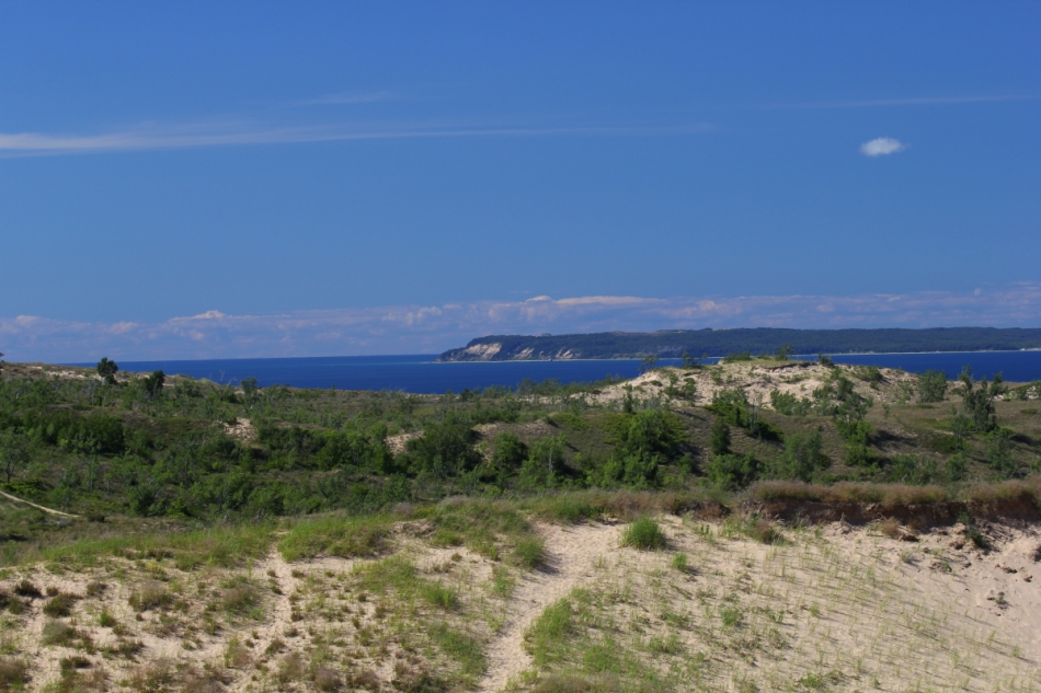 The Sleeping Bear Dune in the distance