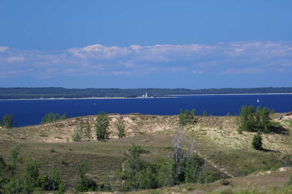 South Manitou Island and lighthouse