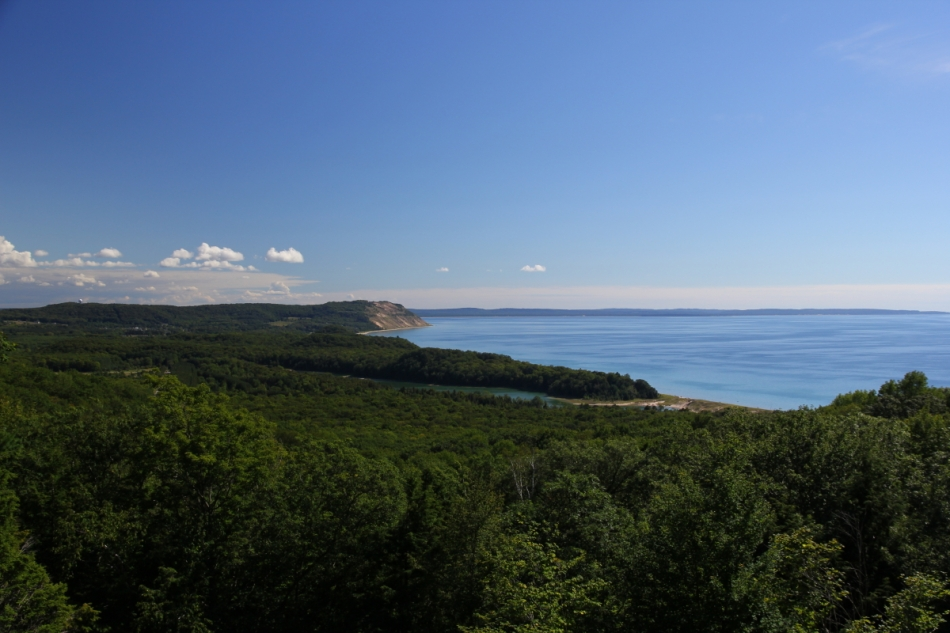Looking south towards the Empire Bluffs