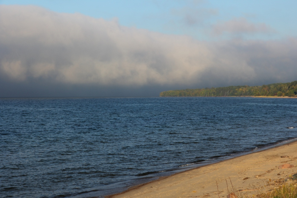 Fog bank over Lake Superior