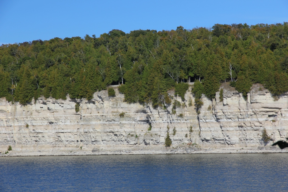 The limestone cliffs at Fayette State Park