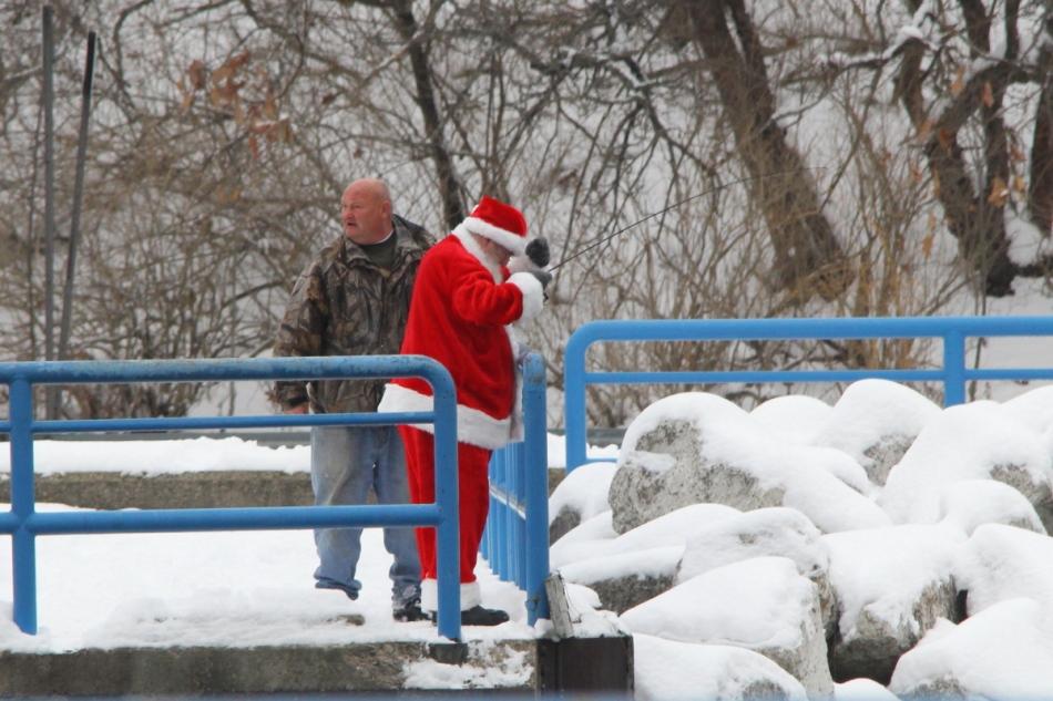 Santa Claus on holiday
