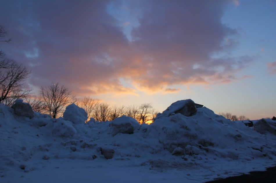 "Sunset over ""Snow Mountain"""