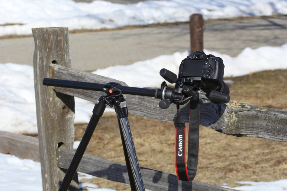 Manfrotto 055CXPRO3 tripod set-up