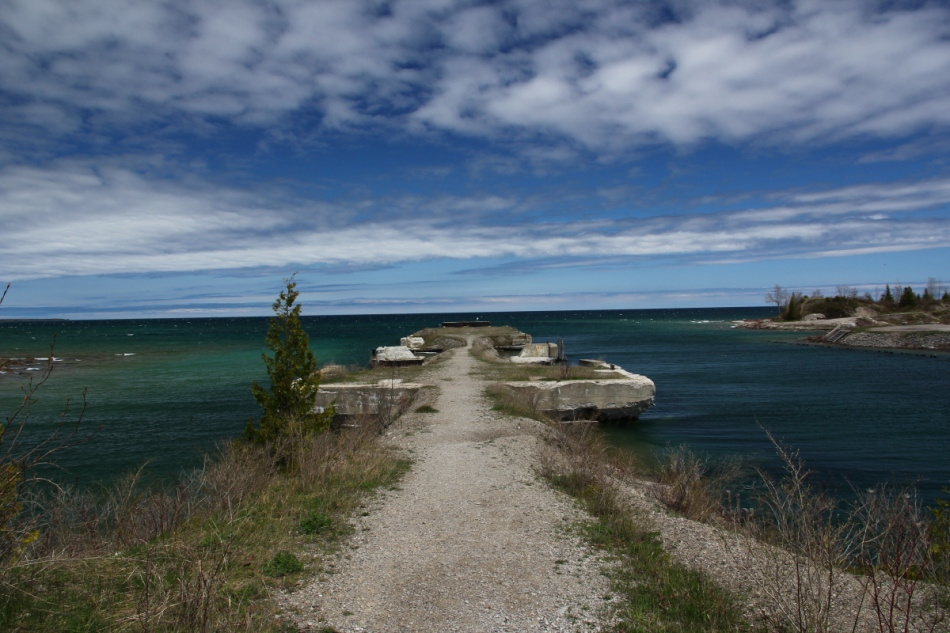 The old dock at the Rockport Recreational Area