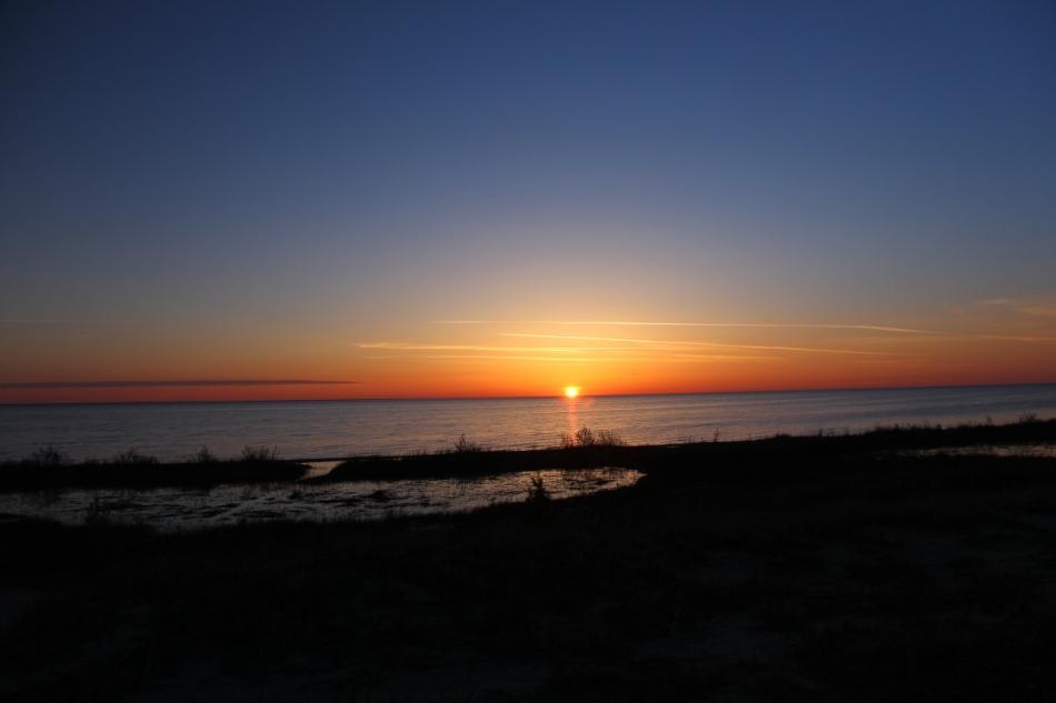 Sunrise over Lake Huron