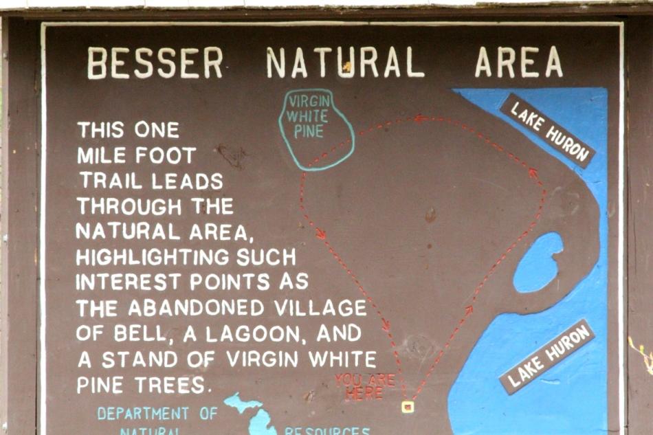 Besser Natural Area map