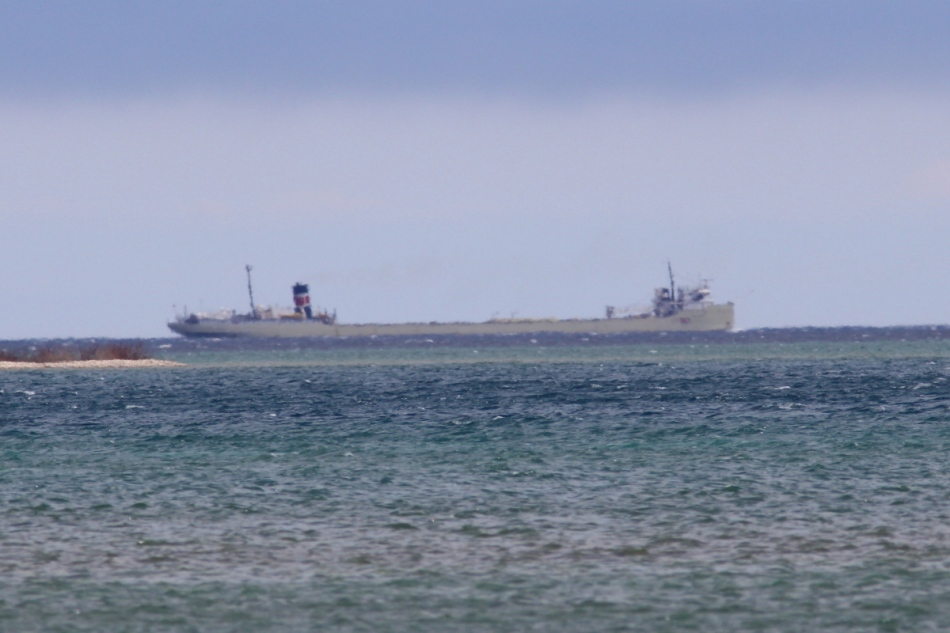 Freighter on Lake Huron