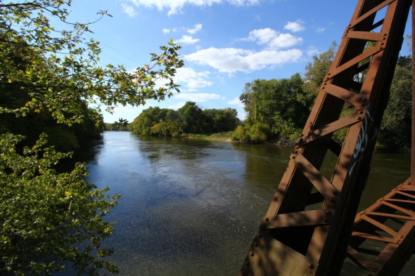 The Grand River looking  downstream