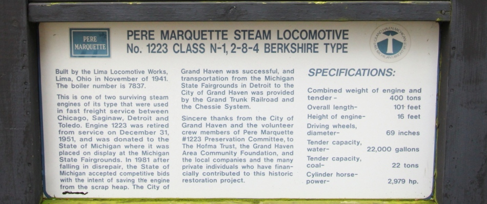 Steam locomotive information
