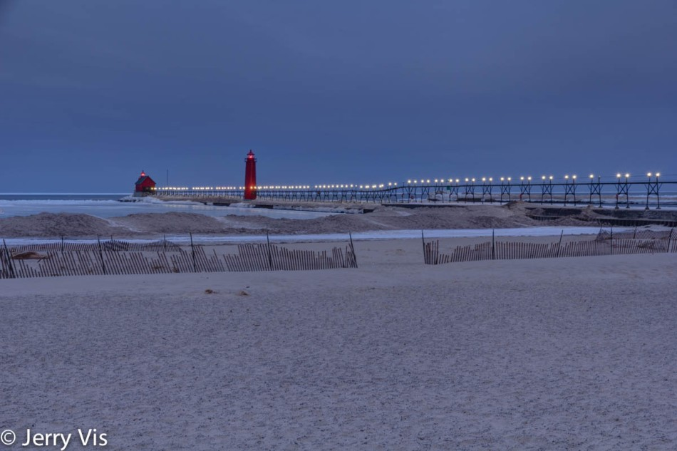 Grand Haven breakwater at dawn