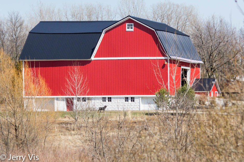 A really red barn
