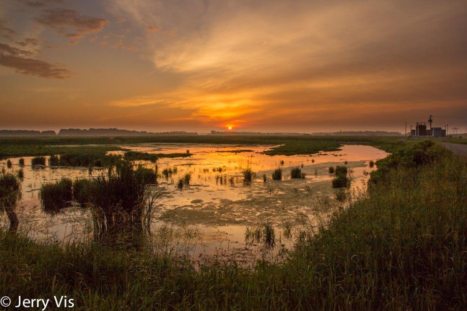 Muskegon marsh sunrise