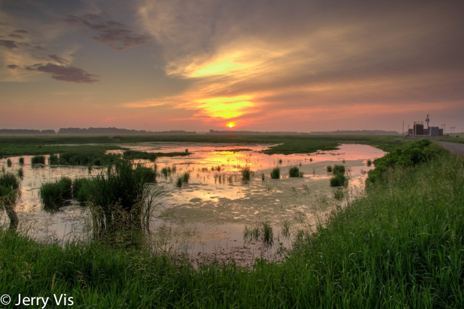 Muskegon marsh sunrise, tone mapped