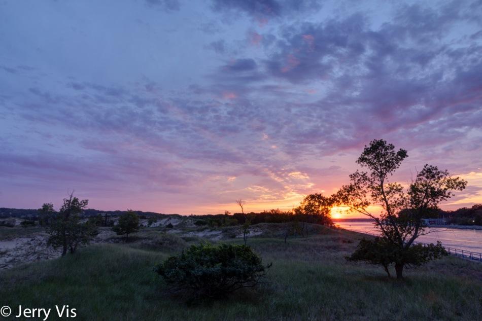 Sunrise over Muskegon