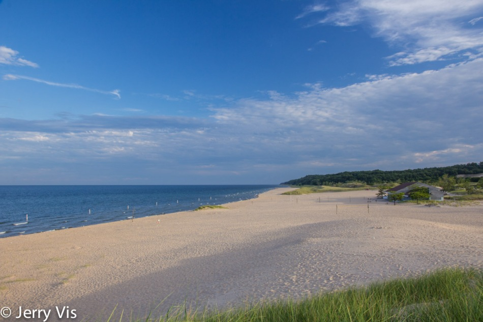 The beach at Muskegon State Park