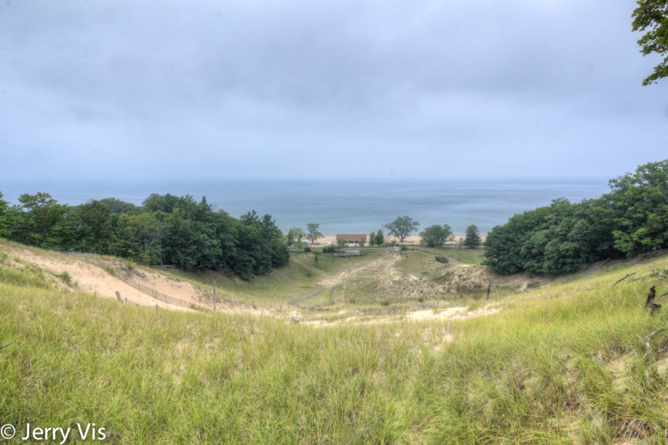 Looking down the dune 1