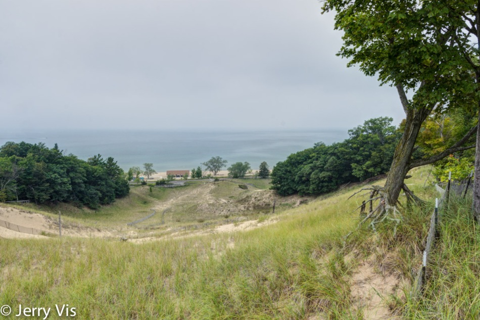 Looking down the dune 2