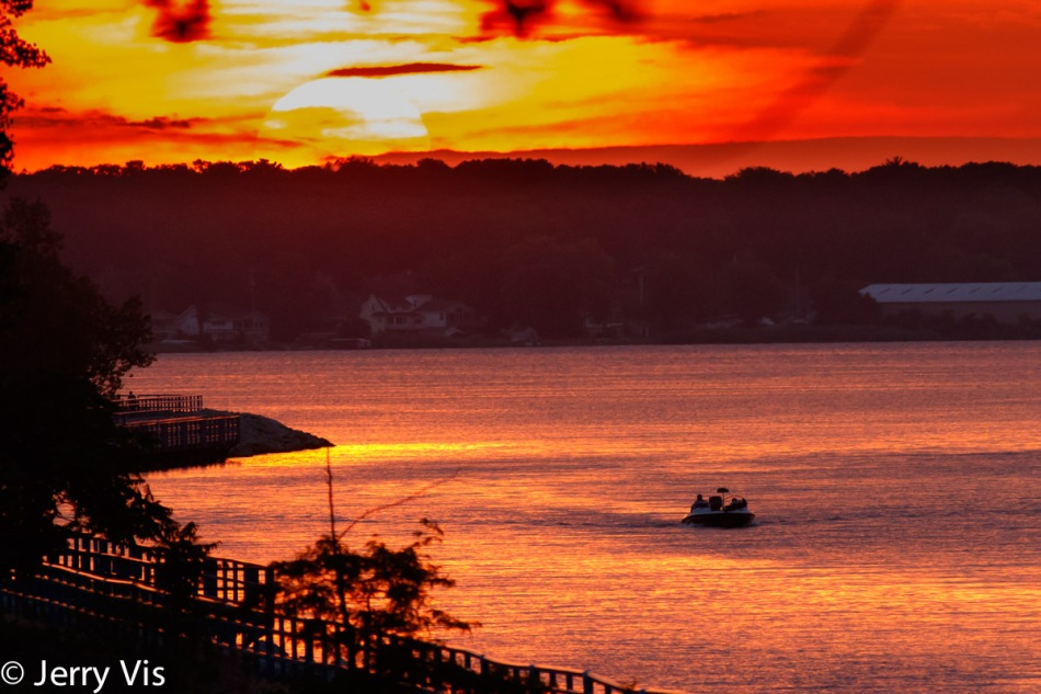 Sunrise over Muskegon Lake