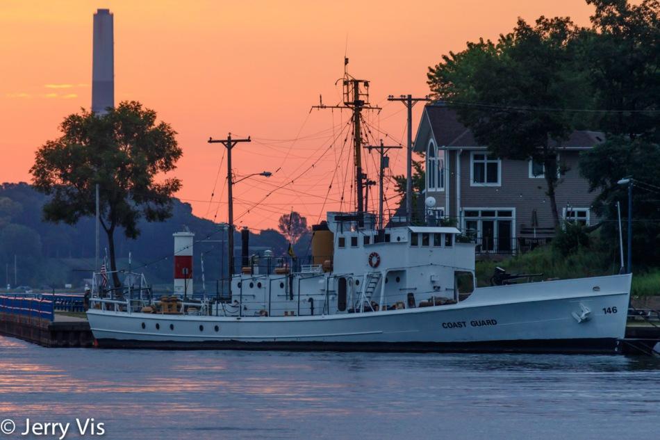 Coast Guard ship at dock