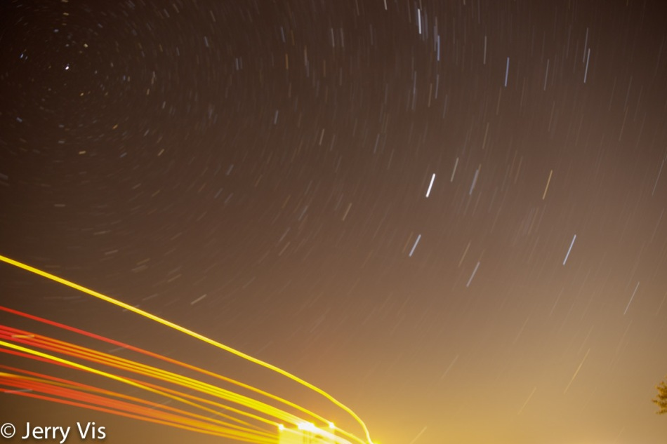 Star and truck trails