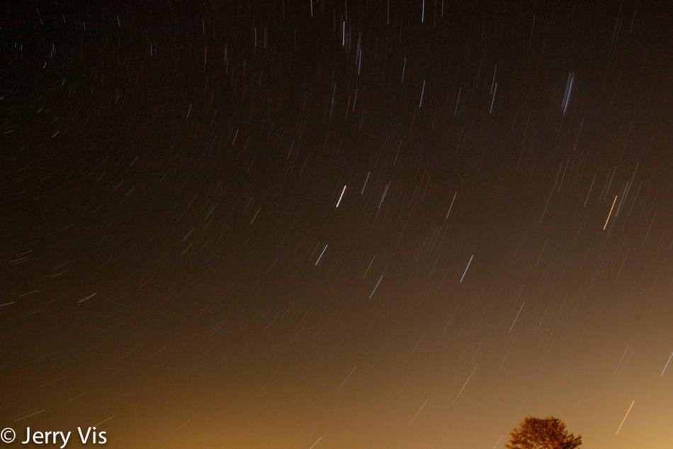 Faint star trails