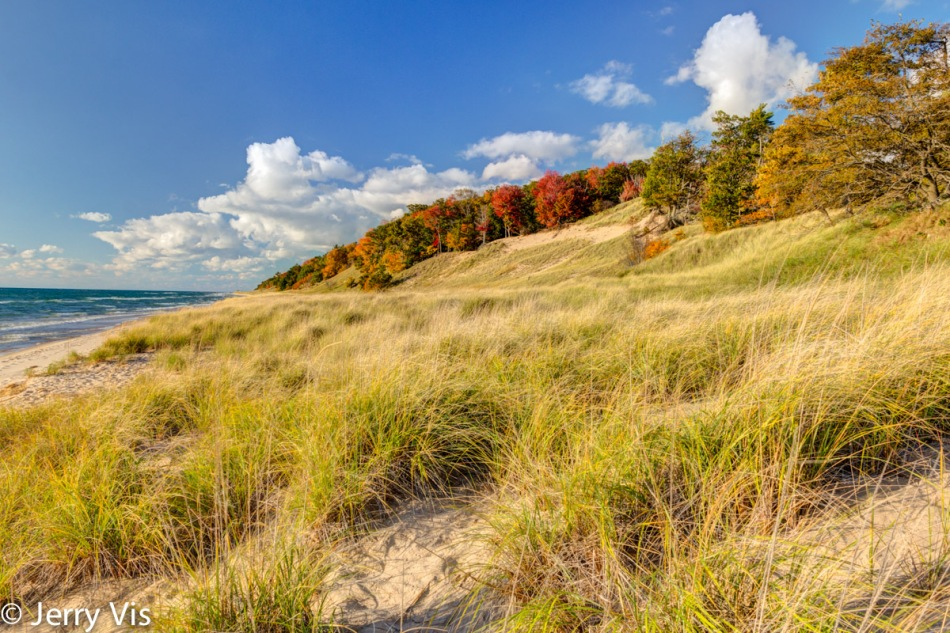 The beach at Muskegon State Park, first attempt