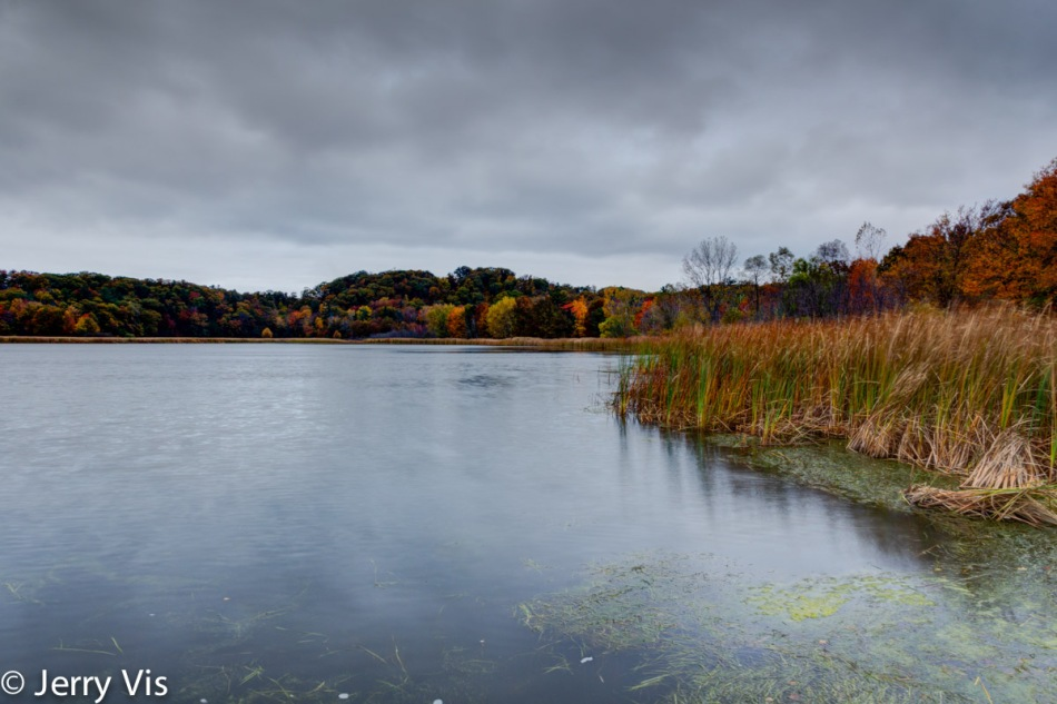 Fall colors, cloudy evening at Muskegon SP 2