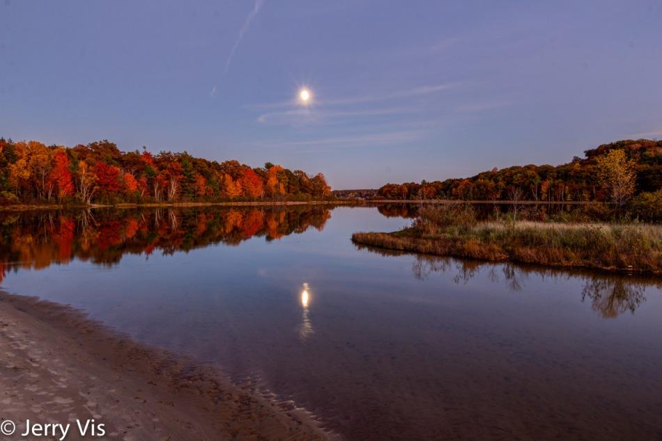 Duck Lake at moonrise