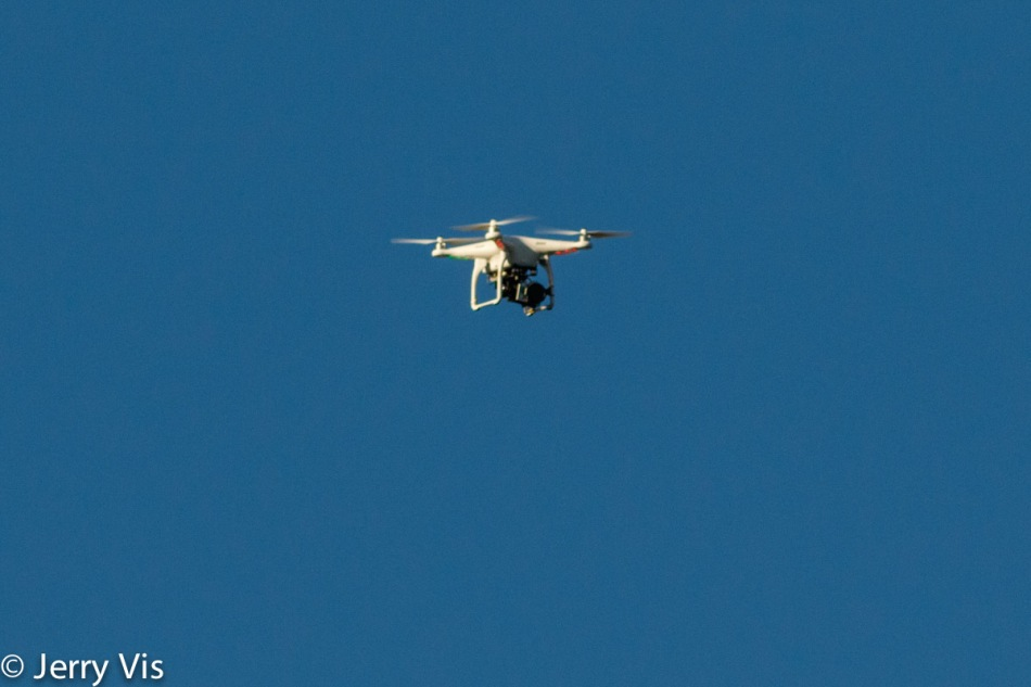 Drone in flight