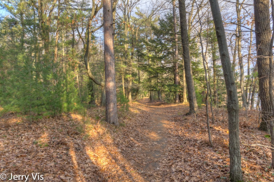 One of the trails at Duck Lake State Park