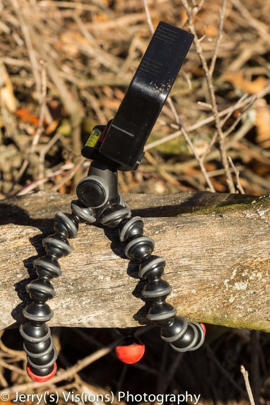 LED light mounted on a Gorillapod