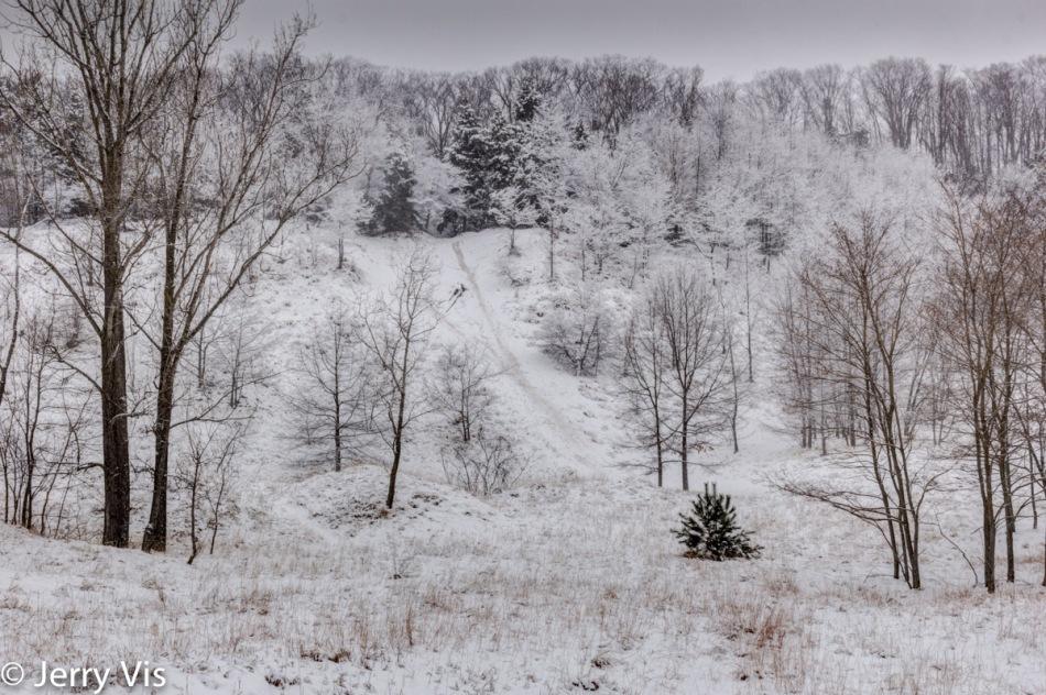 Snow scene at Lake Harbor Park