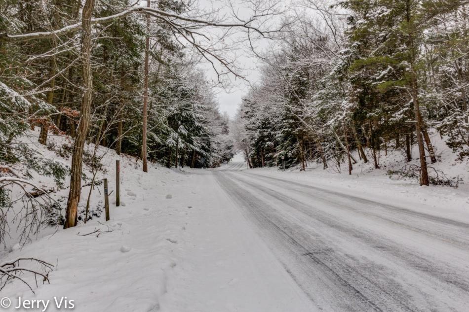 Snow scene in Muskegon State Park