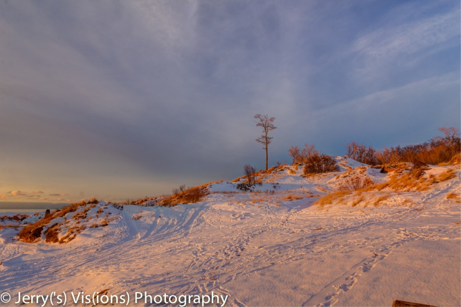Duck Lake dune at sunset
