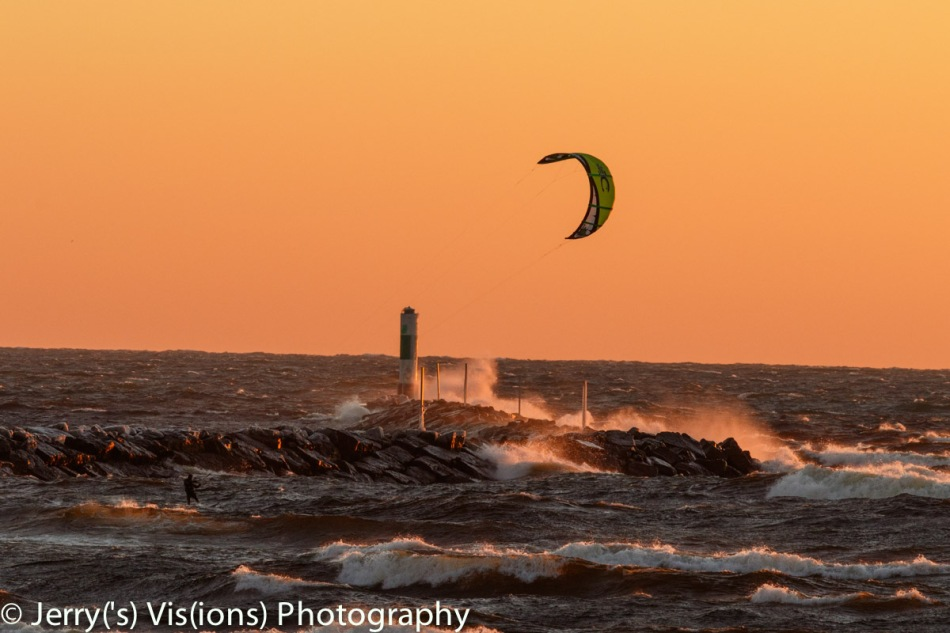 Sunset windsurfer 1