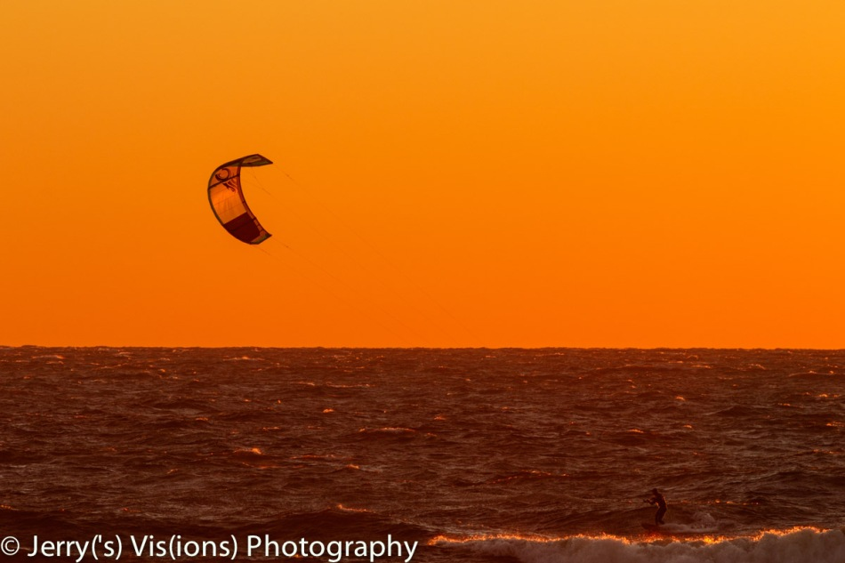 Sunset windsurfer 2